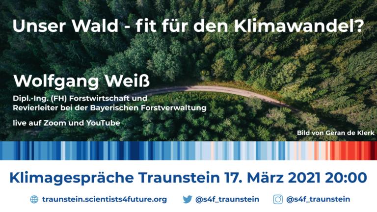 Wälder fit für den Klimawandel? Vortrag von Wolfgang Weiß